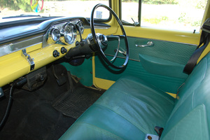 Dana Coote's yellow EK Holden