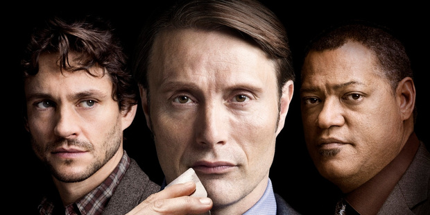 Hugh Dancy, Mads Mikkelsen and Laurence Fishburne star in Hannibal, the new American series, on Saturday nights.