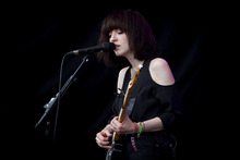 Daughter performing on the Hey Seuss Stage at Laneway Festival. Photo / Sarah Ivey