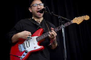 Unknown Mortal Orchestra performing on the Mysterex Stage at Laneway Festival. Photo / Sarah Ivey