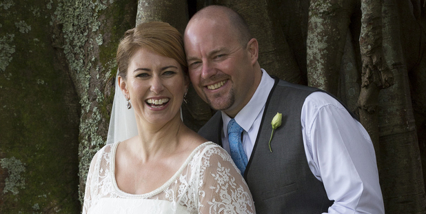 Kate and Hamish Campbell say their day was not about having a large 'shindig'. Photo / Mike Whitaker