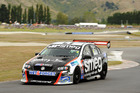 Simon Evans at Highlands Motorsport Park round of V8 SuperTourers. Photo / Geoff Ridder