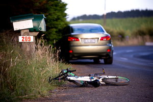 A young girl suffered serious head injures after she was hit by a car while riding her bike. Photo / Dean Purcell