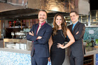 Zoe Marshall teams up with restaurateurs Lorenzo, left, and Leonardo Bresolin.