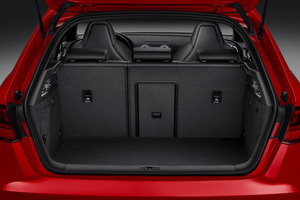 The large boot space of the new Audi S3 Sportback that has just been launched in New Zealand.