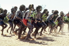A traditional ceremony in Arnhem Land, Northern Territory, an Aboriginal-owned sacred site.
