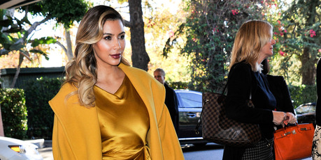 Kim Kardashian said she wanted to eat the placenta after giving birth to North West. Photo / AP