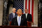 President Barack Obama arrives to deliver the State of Union address. Photo / AP
