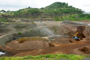 Three Kings scoria quarry. Photo / APN