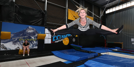Rachel Grunwell attends Extreme Trampolining in Onehunga. Photo / Getty Images