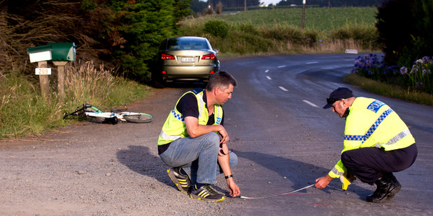 The collision happened on Thursday afternoon on Morrison Rd in Pukekawa, in northern Waikato. Photo / Dean Purcell