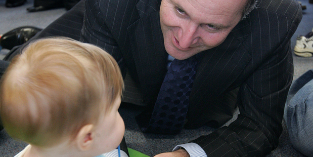 Is John Key getting ready to make a paid parental leave announcement of his own? Photo / APN