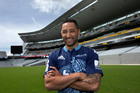 Former NRL rugby league star Benji Marshall in his Blues Super Rugby jersey. Photo / Brett Phibbs