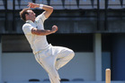 Doug Bracewell can create scuff marks to make life difficult for left-hand batsmen facing spinners. Photo/File