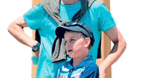 Shayne O'Connor and son Thomas.
