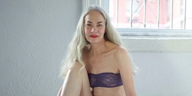 Jacky O'Shaughnessy models American Apparel underwear. Photo / Facebook, American Apparel