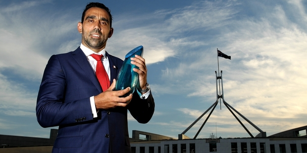 "Adam Goodes is Australian of the Year, but he says his country's national day is ""a sad day for our mob"". Photo / Getty Images"