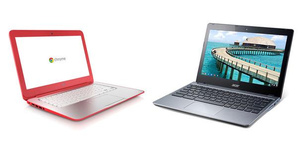 The HP Chromebook 14 v Acer's C720 Chromebook.