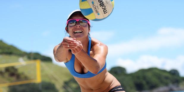 Julia Tilley during the Mauao Grand Slam beach volleyball tournament, Mount Main Beach.