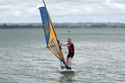 Rachel Grunwell finds wider boards and lighter sails have made windsurfing easier to pick up. Photo / Doug Sherring