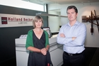 Holland Beckett practice manager Sharline Fitzgerald and company partner Simon Collett. Photo / Andrew Warner