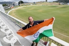 FINISHING TOUCHES: Northland competitions manager Neal Parlane prepares to raise the Indian flag at the Cobham Oval ahead of the India-versus-New Zealand XI two-day cricket match starting tomorrow.PHOTO/JOHN STONE