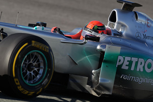 Michael Schumacher driving for Mercedes prior to his retirement. Photo / Supplied