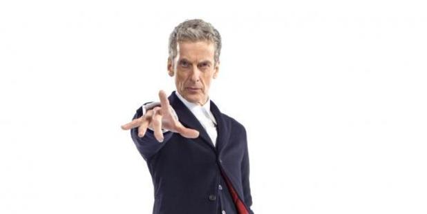 Peter Capaldi rocks the new-look outfit for Doctor Who.