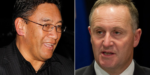 Hone Harawira, left, and Prime Minister John Key. Photos / NZ Herald