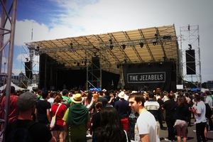 The Jezabels were one of the first to take the stage today. Photo / Chris Schulz