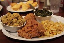 Soul food is essentially food from the Deep South, transported up to New York by successive waves of economic migration.