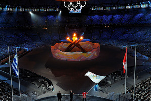 The closing ceremony of the 2010 Winter Olympics. File photo / Getty Images