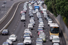 Bumper-to-bumper traffic as a result of a serious crash. Photo / Herald on Sunday / Jason Dorday
