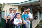 The Fonoia family (from left) Mareilaethanton, 4, Nina, Ronaldo, 7, Ether, 6, and Mila at the Mangere east home they shifted to last year. Photo / Jason Oxenham