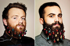 Beard baubles - the ultimate hipster accessory this Christmas.