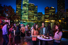 City lights bring sparkle to the dining precinct. Photo / Tourism and Events Queensland Jazz club