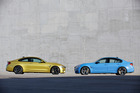 The  BMW M3 and M4 Coupe (left) have moved from V8 to six-cylinder twin-turbo power.