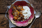 Eleanor Ozich of Petite Kitchen uses coconut oil for recipes such as this roasted granola with apricot and figs. Picture / Eleanor Ozich.