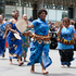 Fijian supporters in traditional dress during the rugby sevens parade. Photo / Mark Mitchell