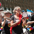 The Wellington Batucada band in action during the rugby sevens parade. Photo / Mark Mitchell