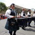 The City of Wellington Pipe Band during the rugby sevens parade. Photo / Mark Mitchell