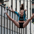 A performer is lofted high in the air during the rugby sevens parade. Photo / Mark Mitchell