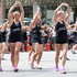 An aerobics team performing during the rugby sevens parade. Photo / Mark Mitchell