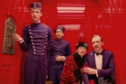 Paul Schlase, Tony Revelori, Tilda Swinton and Ralph Fiennes star in The Grand Budapest Hotel, which screens on opening night. Photo / AP