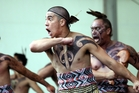 Te Tawharangi, a kapa haka group from Heretaunga, show what they're made of at the day-long event. Photo / Paul Taylor