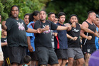 Waka crews perform a Tautoko as Waka crews set off for some last minute training on the Waitangi River as Governor General Sir Jerry Mateparae is welcomed at Te Tii Marae. Photo / Getty Images