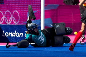 Experienced goalkeeper Bianca Russell will enhance the Black Sticks' run-up to the World Cup. Photo / Brett Phibbs