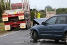 The Subaru station wagon was extensively damaged in the crash. Photo/Michael Cunningham