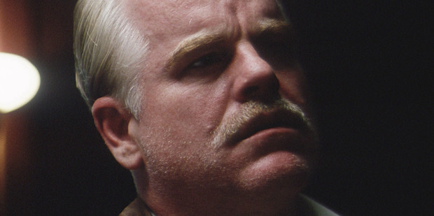 Philip Seymour Hoffman in a scene from The Master.