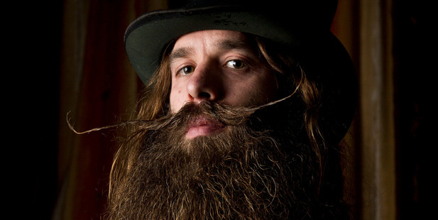 Ygnacio Cervio attended the World Beard and Moustache Growing Championships in Germany. Photo/Greg Bowker